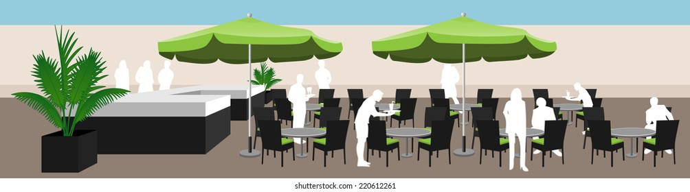 Bar Stool Table With Umbrella Images Stock Photos Vectors