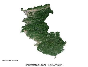Wakayama, Japan Map (3D illustration)