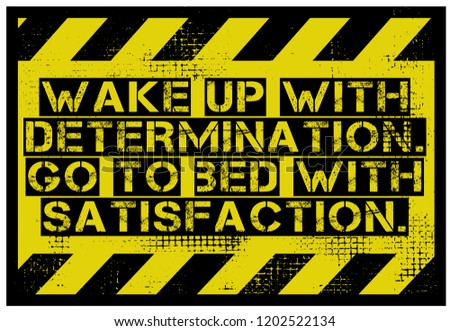 Royalty Free Stock Illustration Of Wake Determination Go Bed