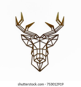 Wall Art - Deer Head Wall decoration isolated on White  3D Illustration