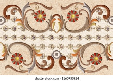 wall art oil paint design background for home,