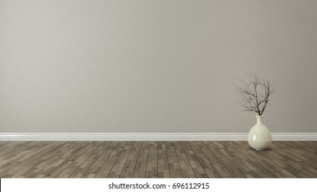 wall background with plant in the room decoration idea 3d rendering by Sedat SEVEN