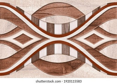 Wall Decor, Digital Wall Tile Design, Wall tiles Decor on Marble For Home Decoration, 3D illustration can be used for wallpaper, linoleum, textile, web page background. - 3D Illustration