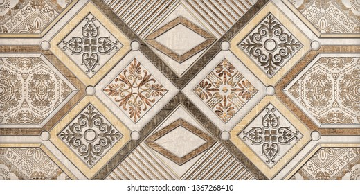 Wall Decor for interior  home decoration, Ceramic Tile Design For Bathroom. it can be used for ceramic tile, wallpaper, linoleum, textile, web page background.