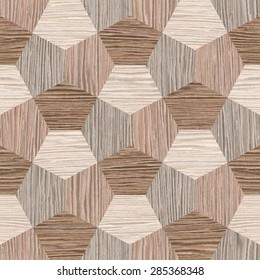 Wall decorative tiles - Interior wall panel pattern - Abstract decoration panels - seamless background - wrapping paper - different shades - Blasted Oak Groove wood texture