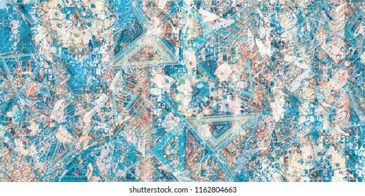 Wall Grunge Glass Pattern Multi Color Decorative Background Design.