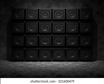 Wall of guitar amps