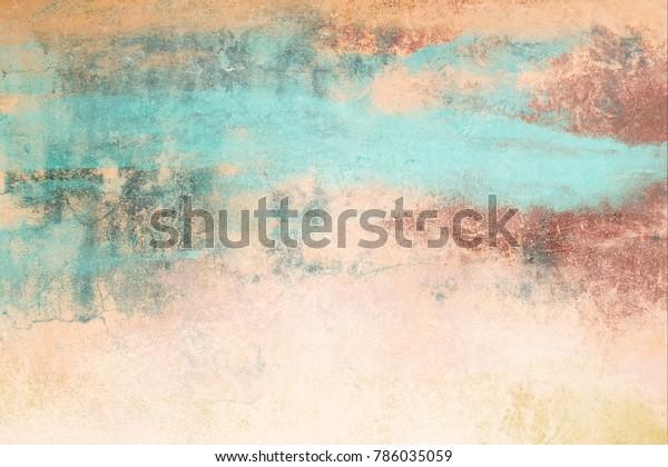 Illustration De Stock De Peinture Murale Fait Main Texture