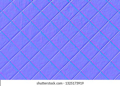 Wall with squares in normal map
