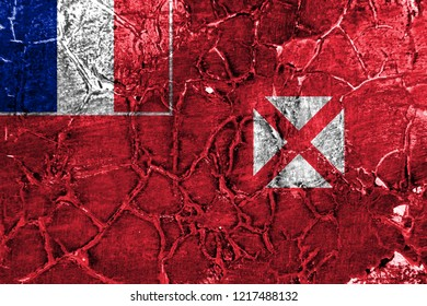 Wallis and Futuna grunge flag, France dependent territory flag