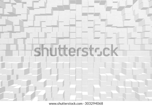Wallpaper Background Effect 3d Block Style Stock Illustration