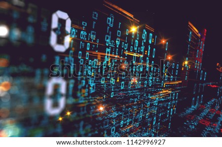 Wallpaper Of Binary Code Concept Pattern And Big Data StructureNet Source
