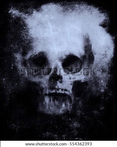 Wallpaper With Bull Skull