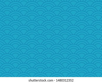 Wallpaper Pattern Texture Wave Blue Background