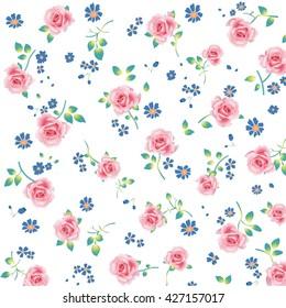 Wallpaper vintage pink flower pattern ez canvas mightylinksfo