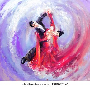 waltz dancers digital painting/waltz dancers