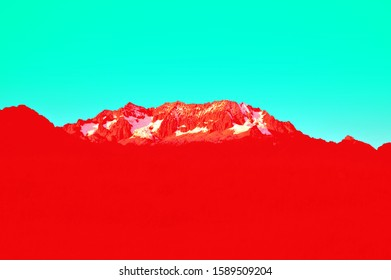 Wander travel love red turquoise andes mountains
