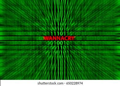 wannacry computer virus symbol