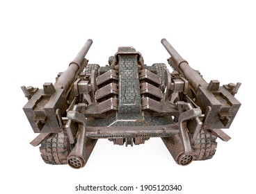 war vehicle top rear view, 3d illustration