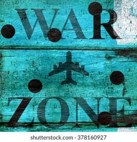 war zone background design on wood grain texture
