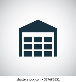 warehouse stock icon, on white background