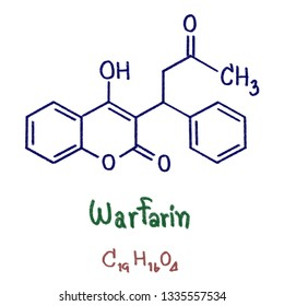 Warfarin is a medication that is used as an anticoagulant (blood thinner). It is commonly used to treat blood clots such as deep vein thrombosis. Illustration