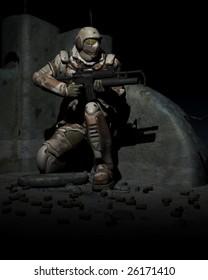 warhammer space marine soldier.
