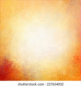 warm golden wall background paint, yellow gold paper with orange messy grunge color splash, light beige paper with darker grungy border, old worn page