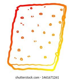 warm gradient line drawing of a cartoon flapjack