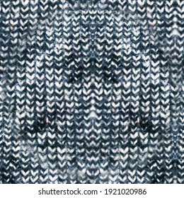 Warm Seamless Woven Texture. Knit Yarn Pattern. Multicolor Nordic Christmas Texture. Wool Knit Closeup.