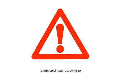 Warning or Alert Symbol Icon Illustration