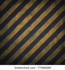 Warning background texture with black and yellow stripes