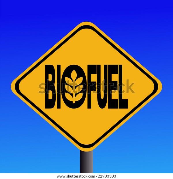 Warning Biofuel sign with cereal symbol illustration JPG