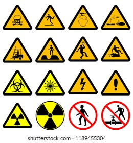 Warning safety icon, Industrial sign