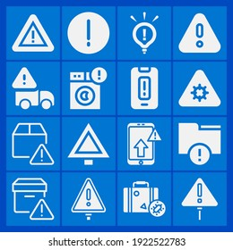 Warning, travel warning icon set suitable for info graphics, websites and print media and interfaces