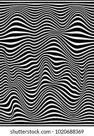 Warped lines background.Zebra background.Overlay lines background.Wavy lines.