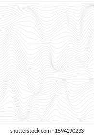 Warped lines.Vertical background with  warped gray lines.