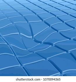 warped tile surface - CG image