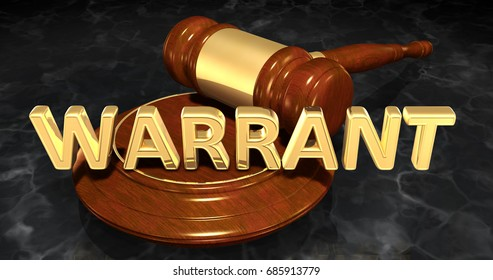 Warrant Law Concept 3D Illustration
