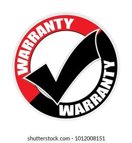Warranty thumb up sticker.