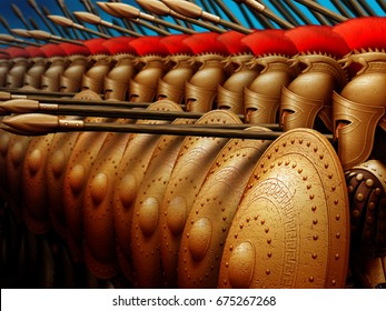 The warriors formed a phalanx for battle