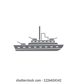 Warship icon. Simple element illustration. Warship symbol design from Transport collection set. Can be used for web and mobile