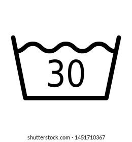 Wash temperature 30 degrees symbol