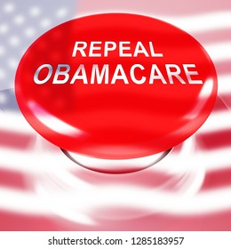 Washington, DC - January 2019: Obamacare Repeal Or Replace American Healthcare Reform. Usa Legislation For Affordable Health Care - 3d Illustration