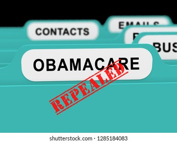 Washington, DC - January 2019: Obamacare Repeal Or Replace American Health Care Reform. Usa Legislation For Affordable Healthcare - 3d Illustration