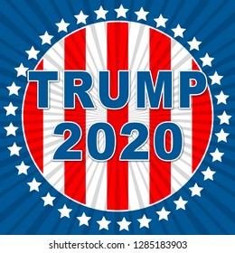 Washington, DC - January 2019: Trump 2020 Republican Candidate For President Nomination. United States Voting For White House Reelection - 2d Illustration