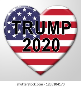 Washington, DC - January 2019: Trump 2020 Republican Candidate For President Nomination. United States Voting For White House Reelection - 3d Illustration