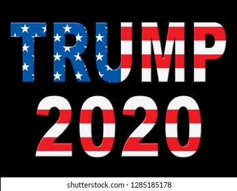 Washington, DC - January 2019: Trump 2020 Republican Choice For President Nomination. United States Voting For White House Reelection