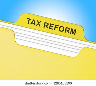 Washington, DC - January 2019: Trump Tax Reform To Change Taxation System In America. GOP Or Republican Finance Policy Changed - 2d Illustration