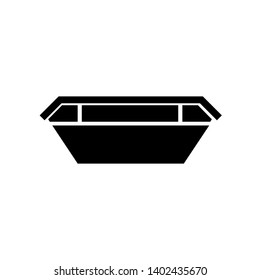 Waste skip bin silhouette. Clipart image isolated on white background